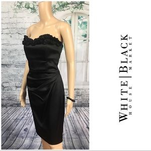 Beautiful Strapless Satin Dress By WHBM